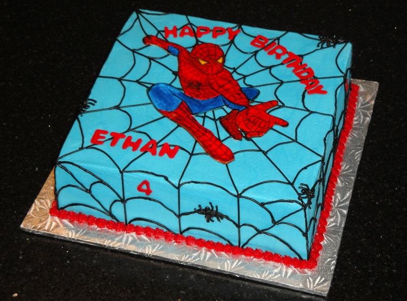 Spiderman Buttercream Cake Design : Photo Galleries