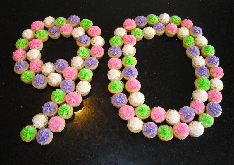 90th Birthday Mini-Cupcakes for Ann