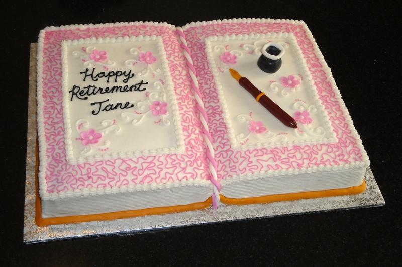 Writer's Festival Retirement Cake