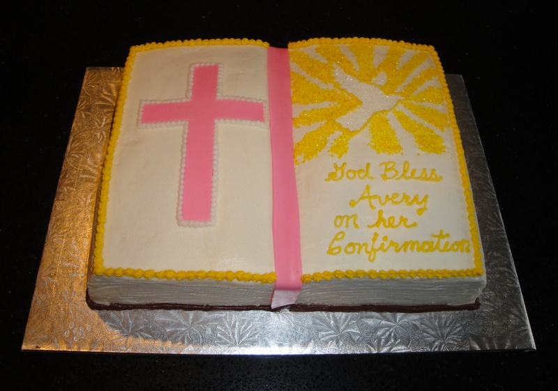 Confirmation Bible Cake for Avery