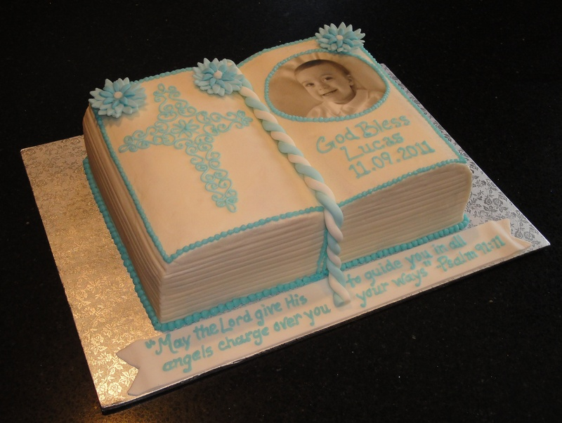 Baptism Bible cake for Lucas