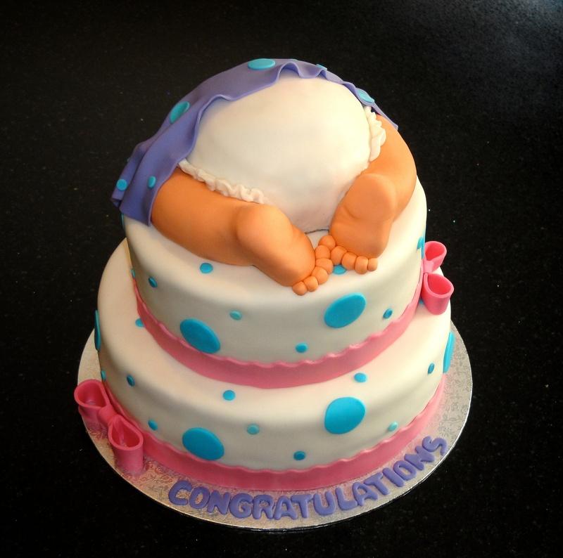 Baby Shower Baby Bottom cake