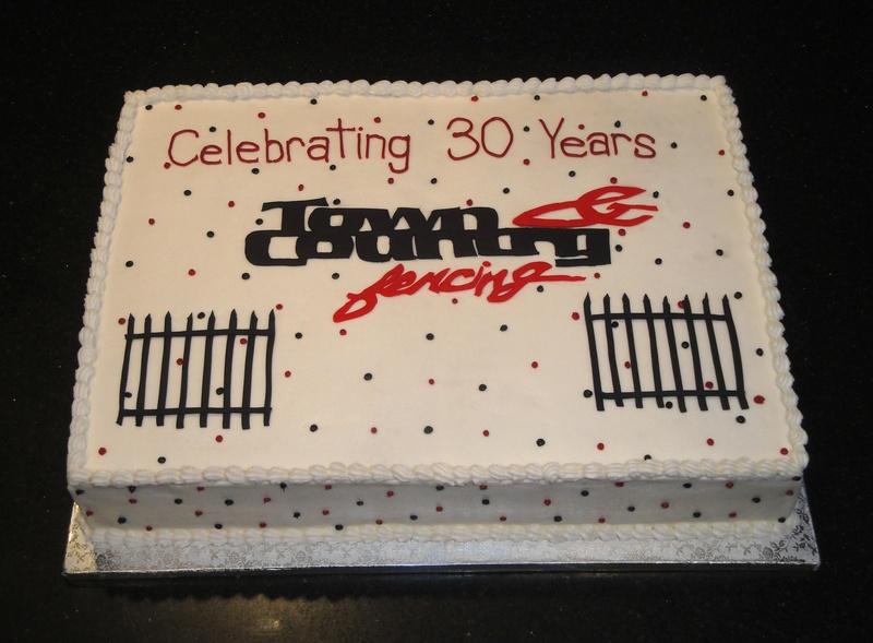 30 Years Anniversary Cake