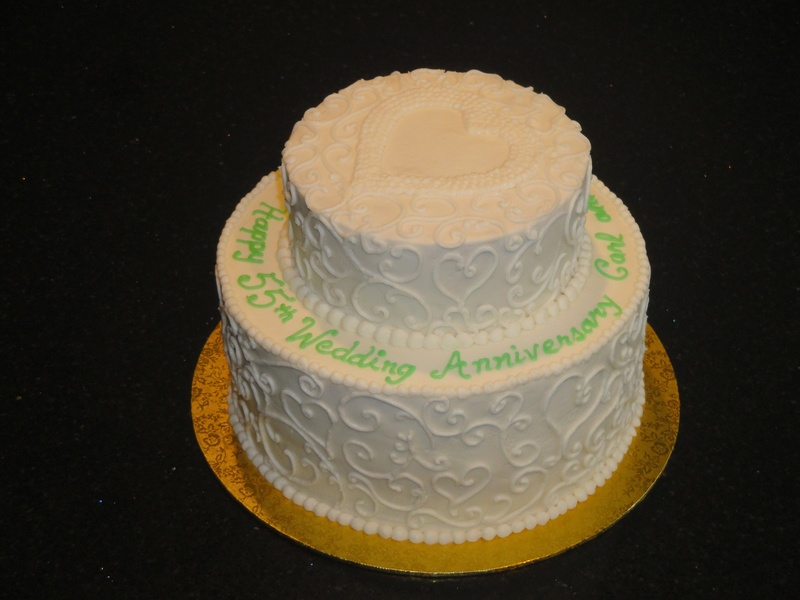 55th Wedding Anniversary Cake
