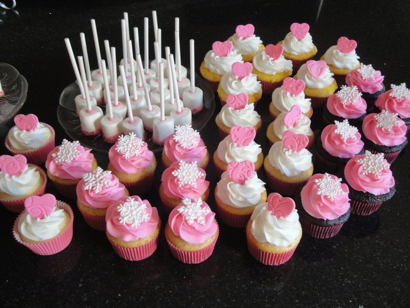 Wedding Shower Cupcakes and Treats