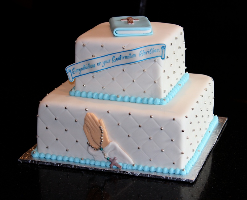Quilted Confirmation Cake