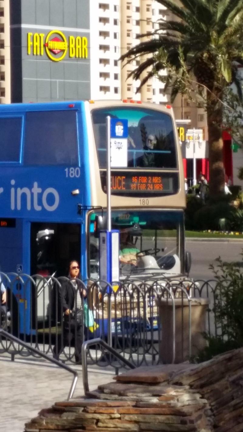 Deuce Bus Picking Up Passangers