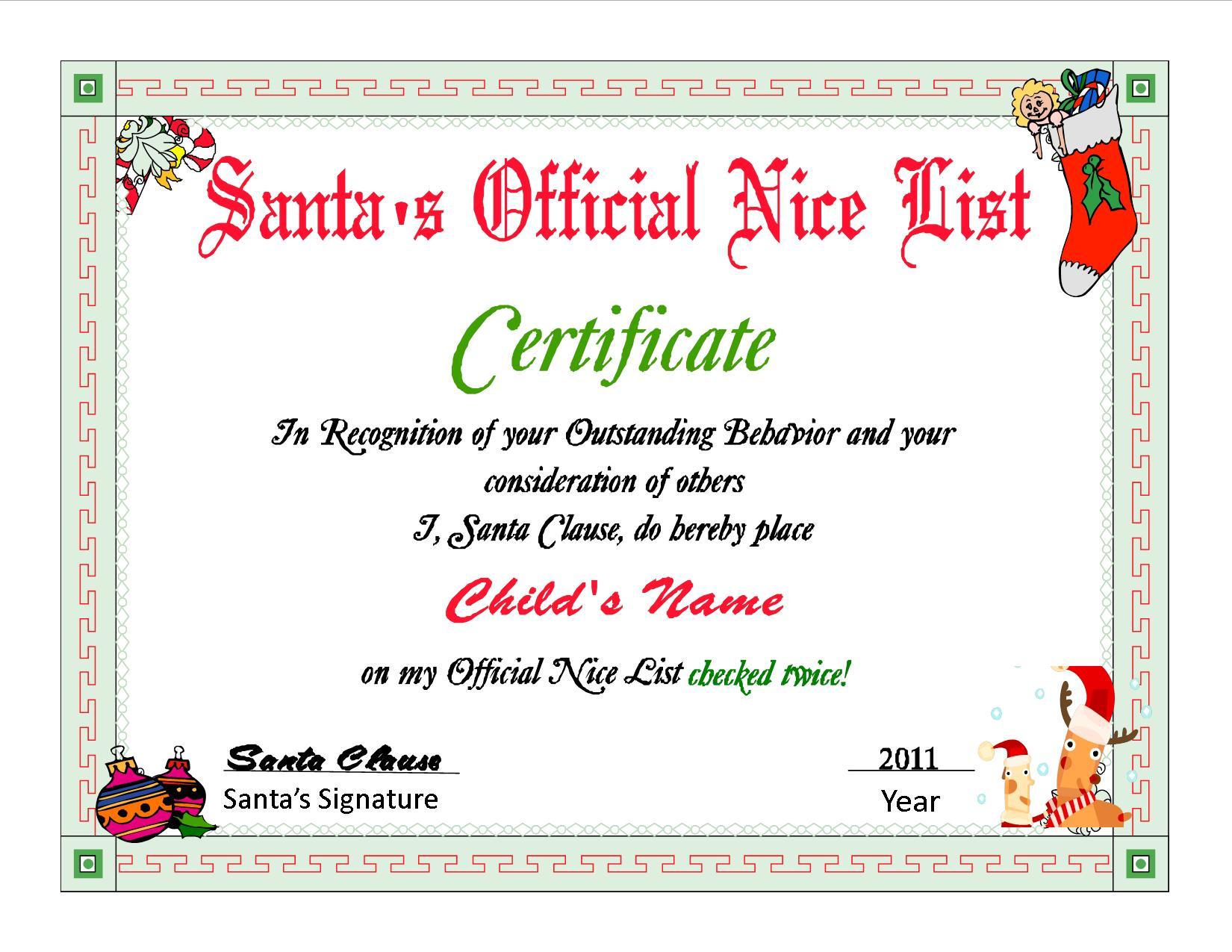 Santa certificate template 28 images santa s list santa s santa certificate template santa list certificate www imgkid the image yadclub Gallery