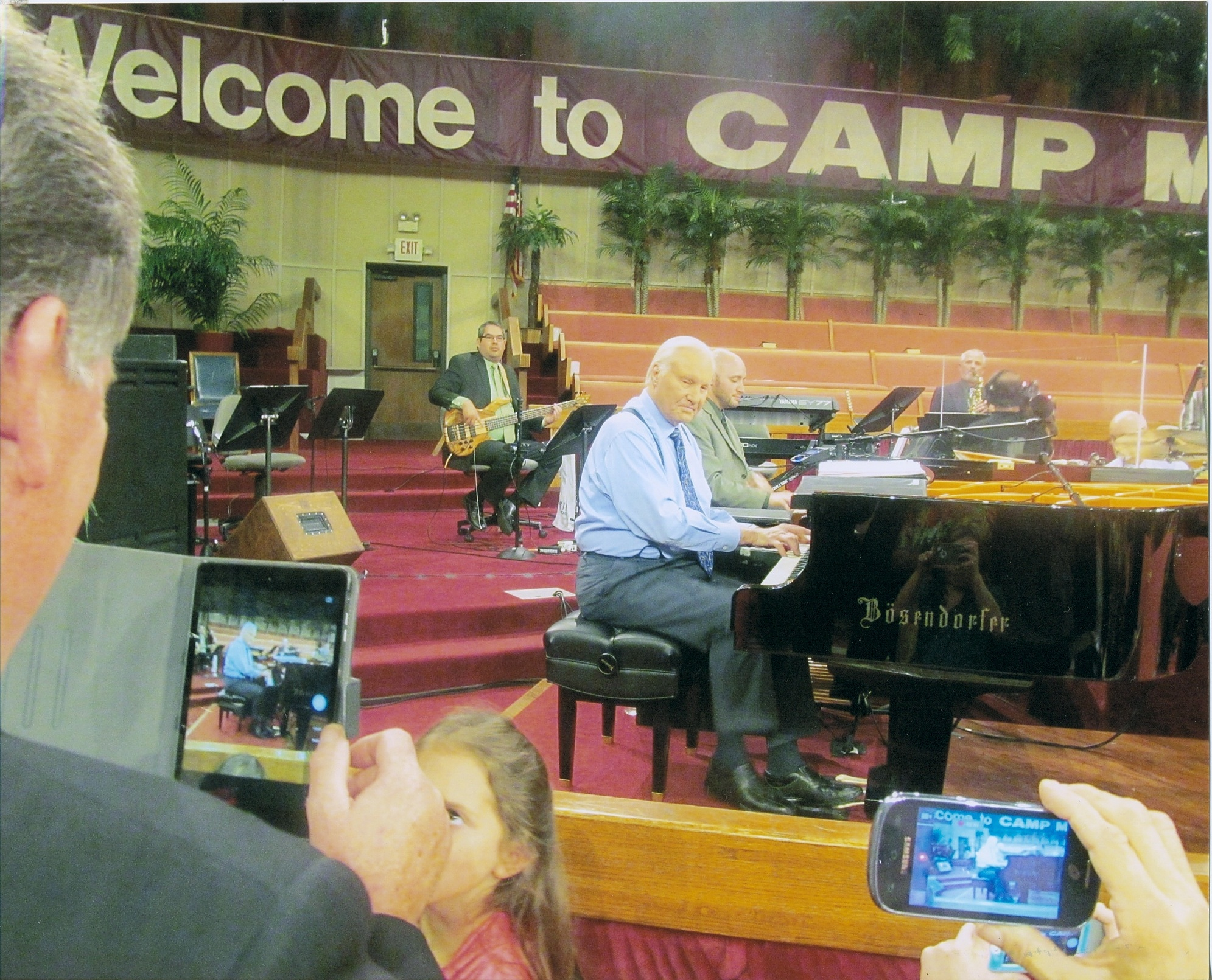 Evangelist Jimmy Swaggart on the key board