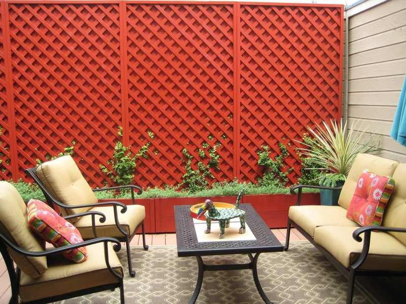 tiny Mexican inspired condo patio - mk landscape design