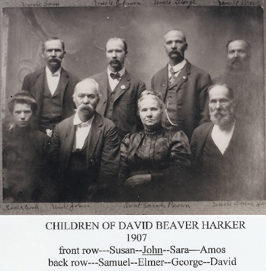 Children of David Beaver Harker 1907