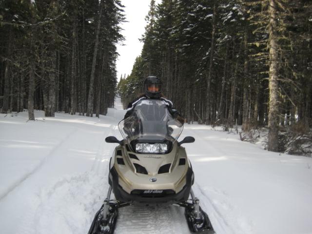 NLSF Groomed SnowmobileTrail - GNP - beautiful sights