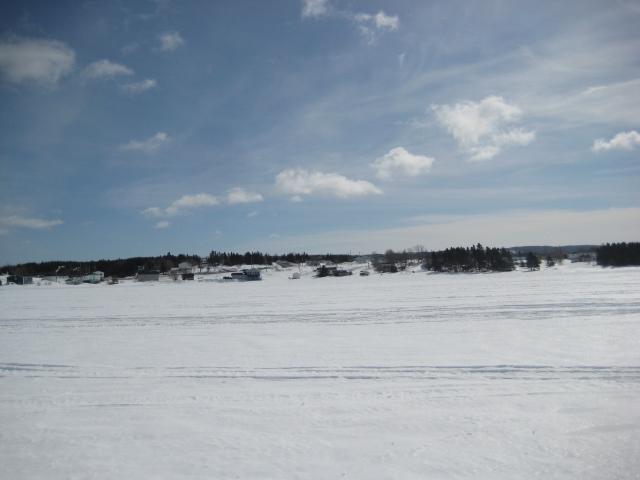 Frozen Canada Bay overlooking Roddickton