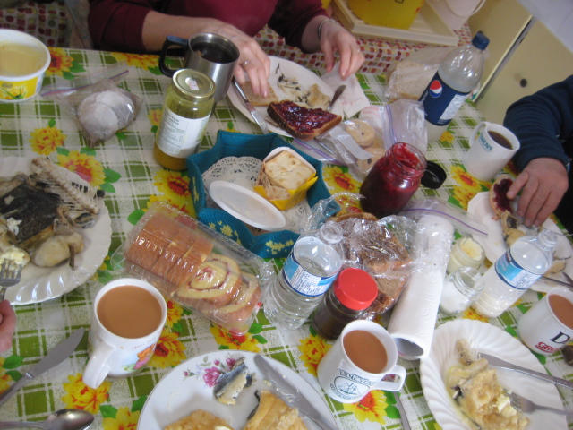 Traditional Cabin tea time