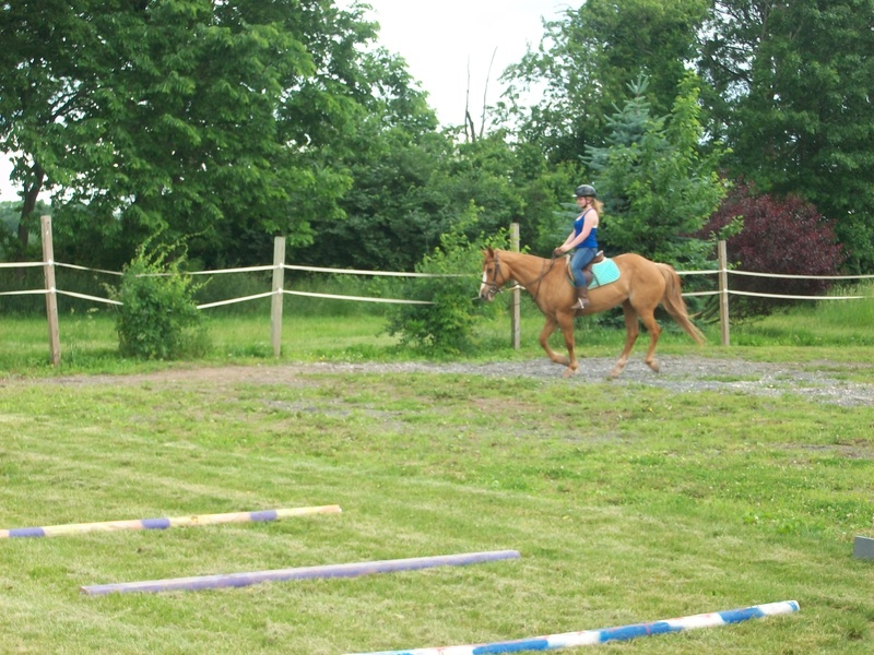 Callie and me cantering