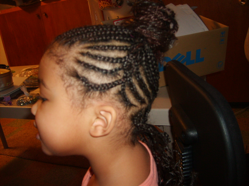 cornrow updo