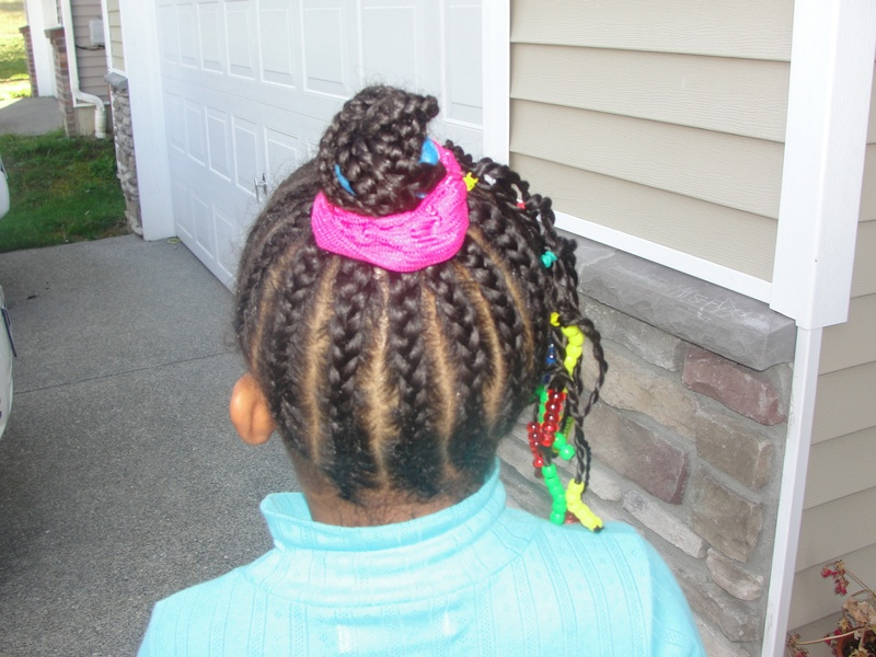 back view cornrow & twists