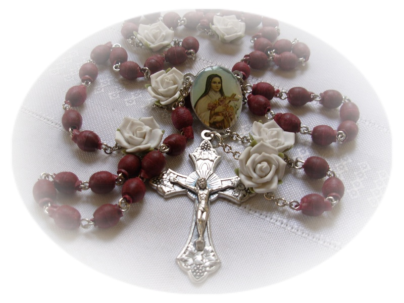 Real Rose Petal Beads