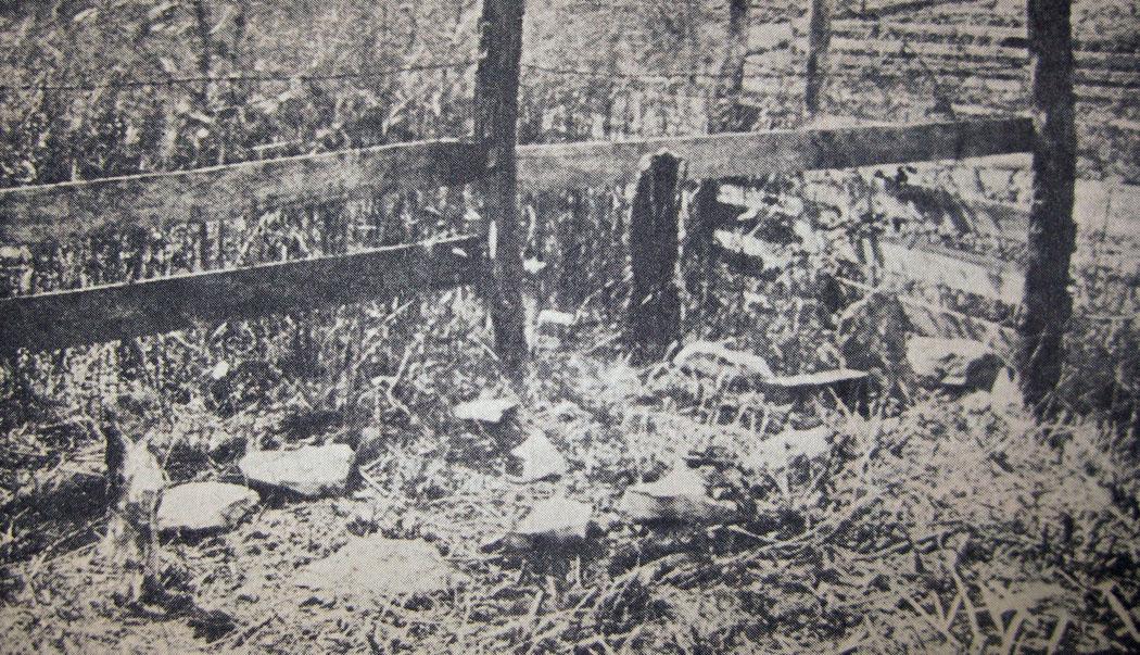 Alleged grave of Bill Anderson at Richmond, Missouri