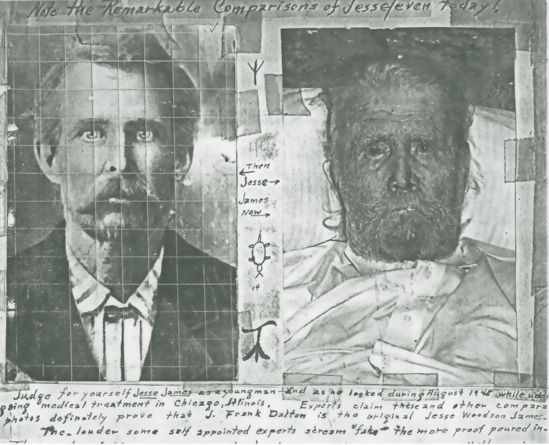 Comparison photos of Jesse W. James