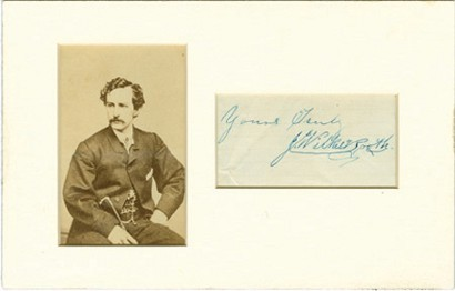 John Wilkes Booth Cabinet (Calling) Card