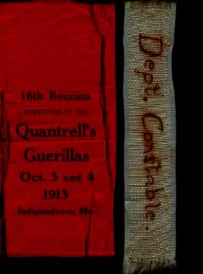 Quantrell's Guerrillas Reunion Ribbon