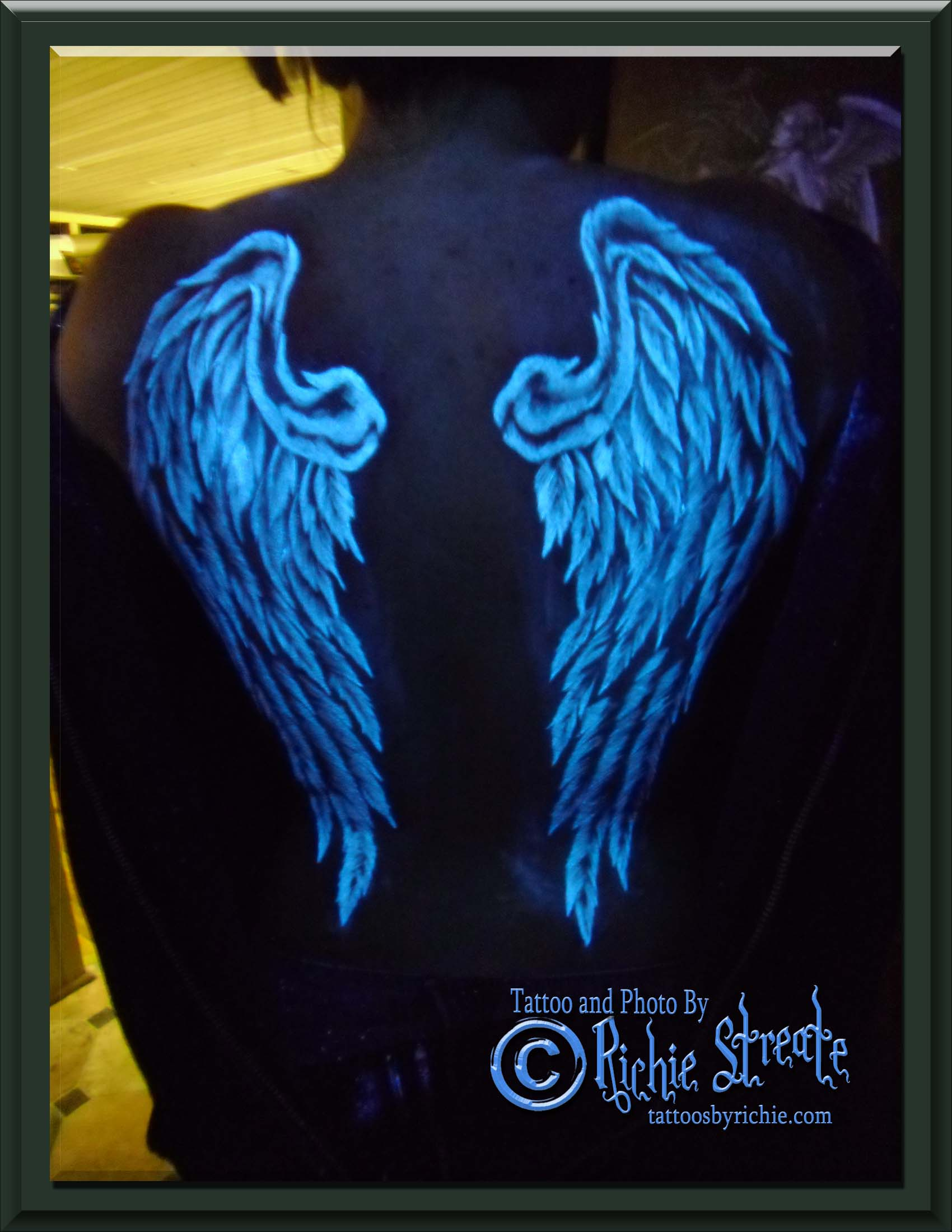 UV Blacklight Wings Tattoo - Blood Borne Pathogen ...