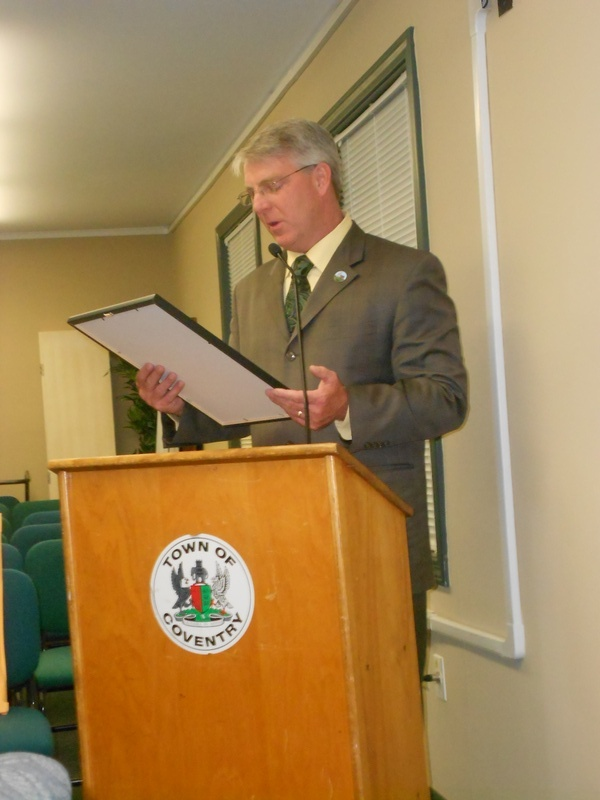 Tim Presenting to Coventry Town Council