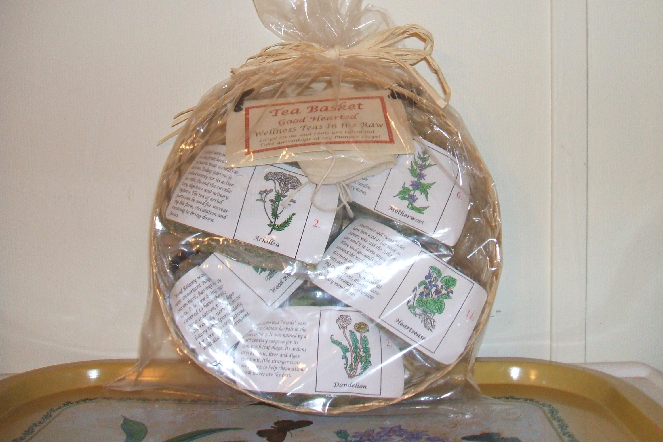 Wellness Tea in the Raw Baskets