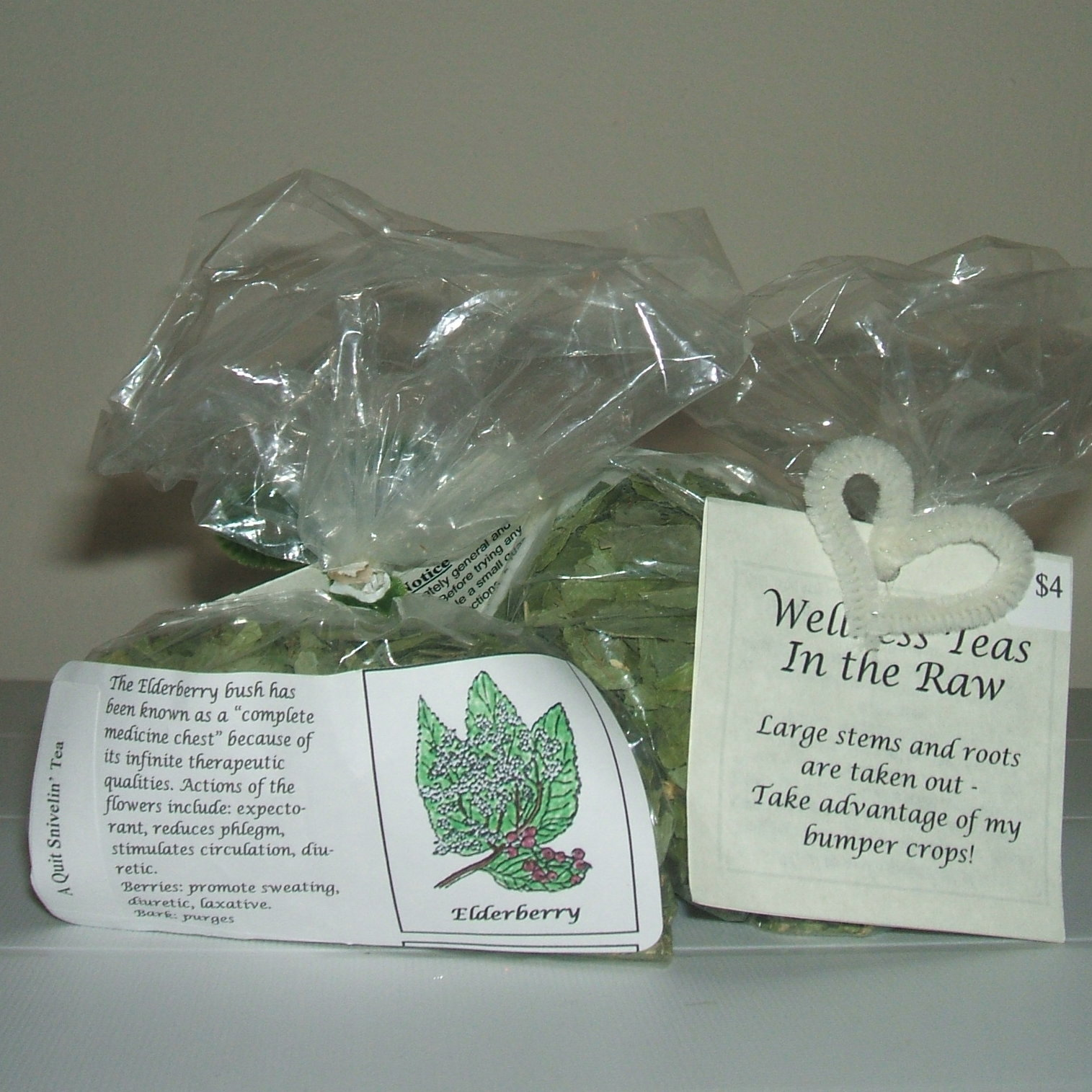 Wellness Teas in the Raw bags