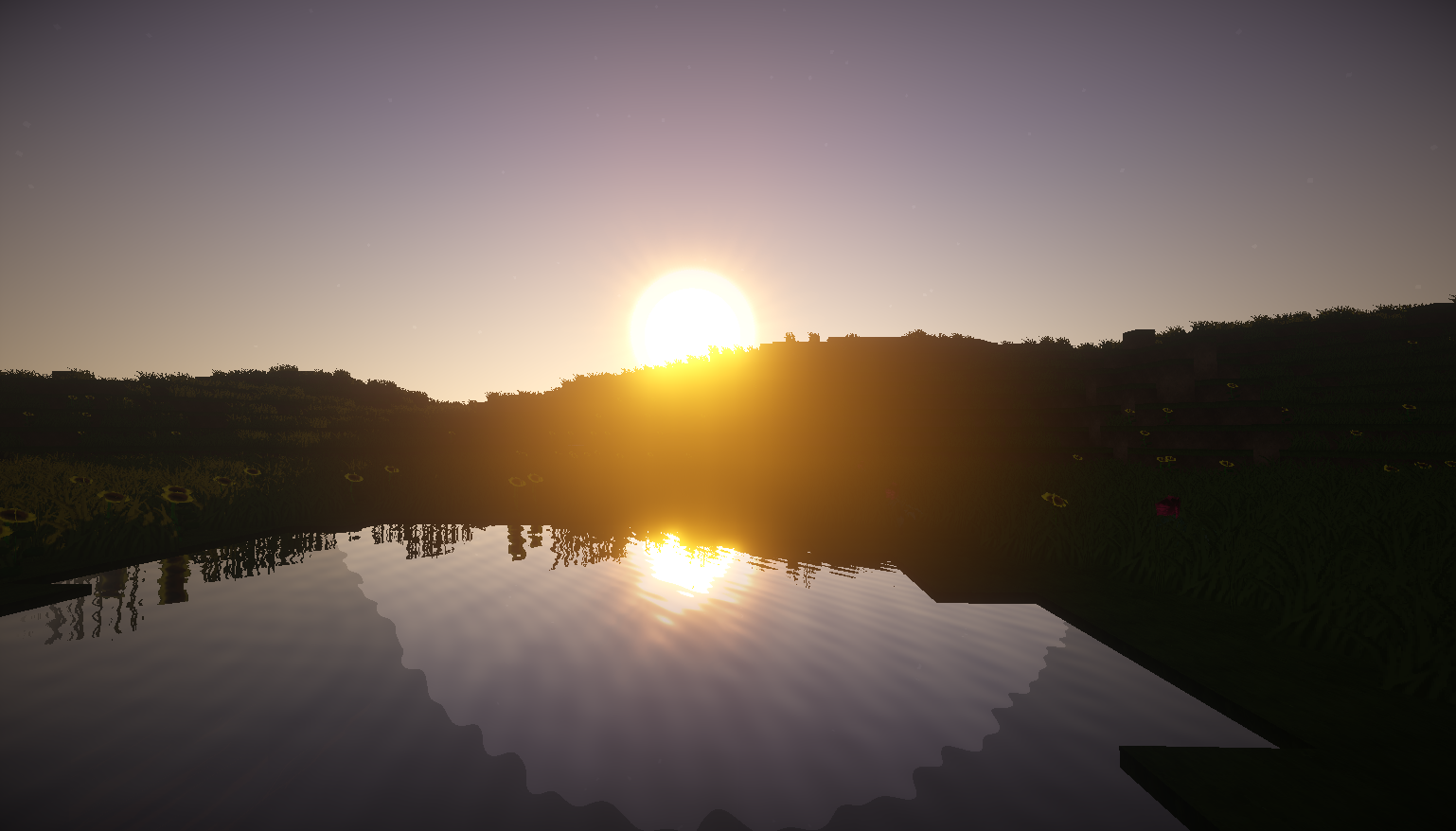 Sunset with Shaders Mod