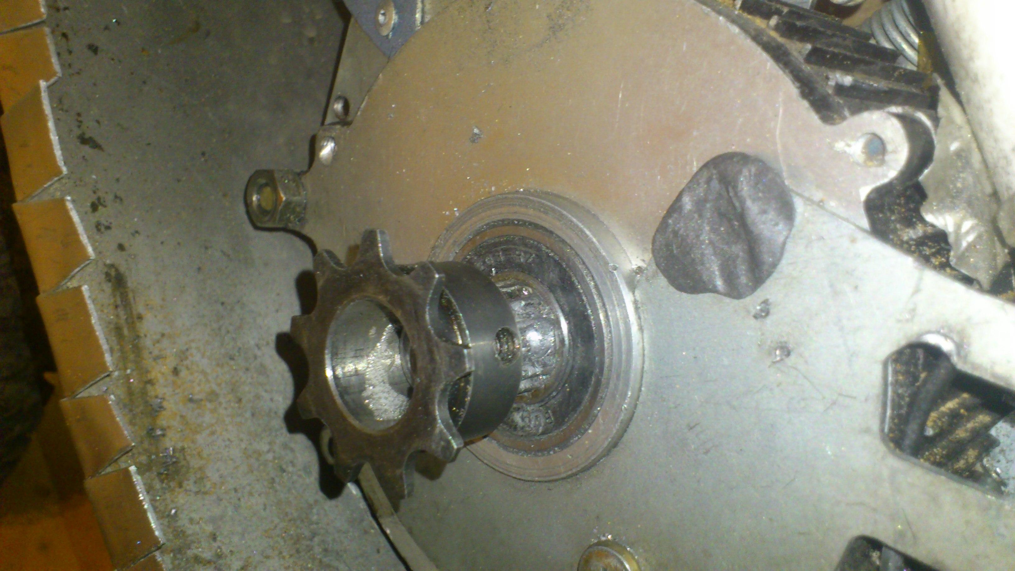 motor 9t Sprocket inntalltion