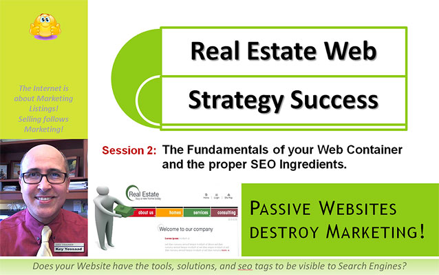 Session2 of Real Estate Web Strategy Success - The Fundamentals of your Web COntainer