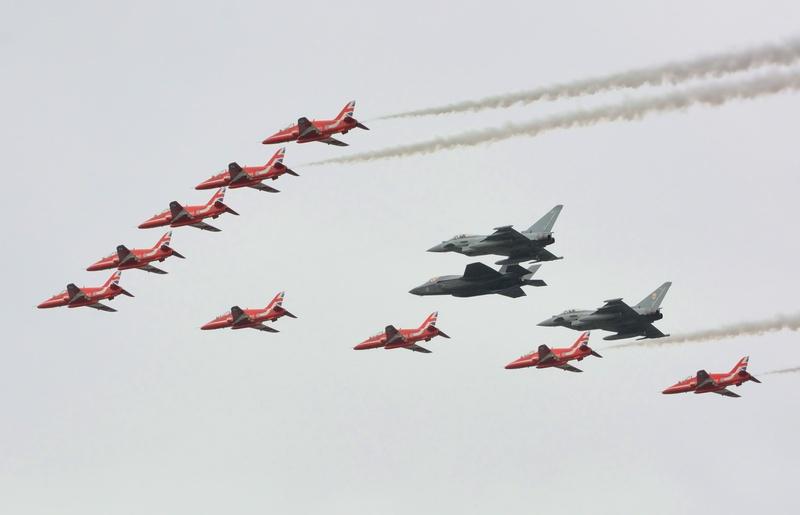 REd Arrow, RAF Typhoon and RAF F-35