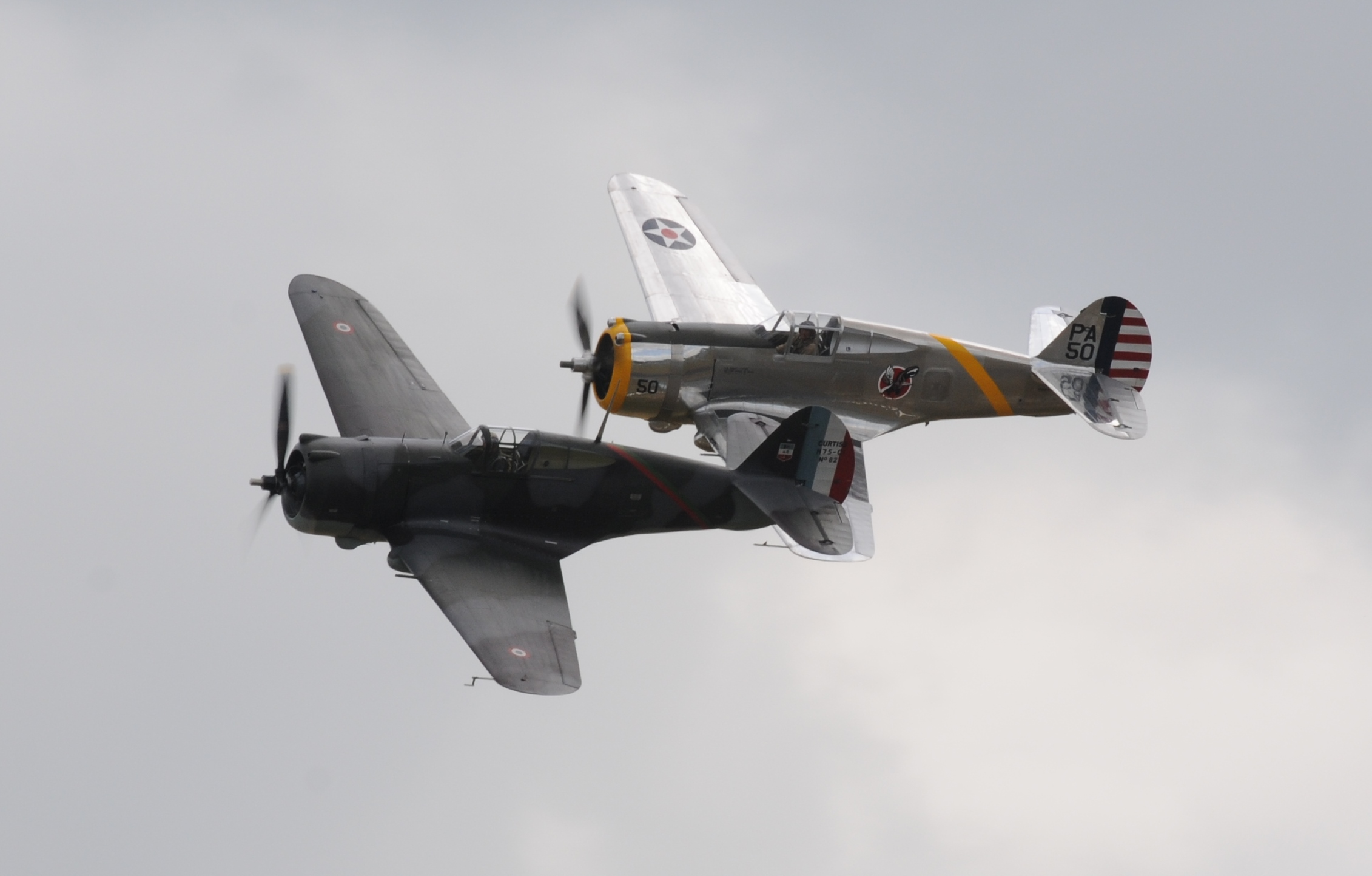 Curtiss P-36 and Hawk 75
