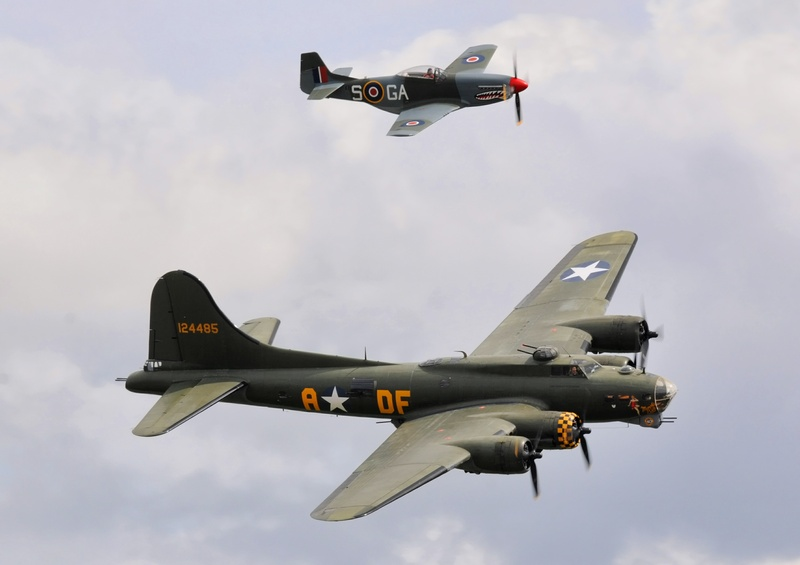 B-17 and P-51D