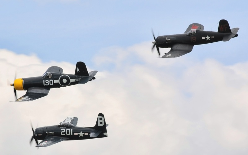 US Navy, Corsiars and Bearcat.