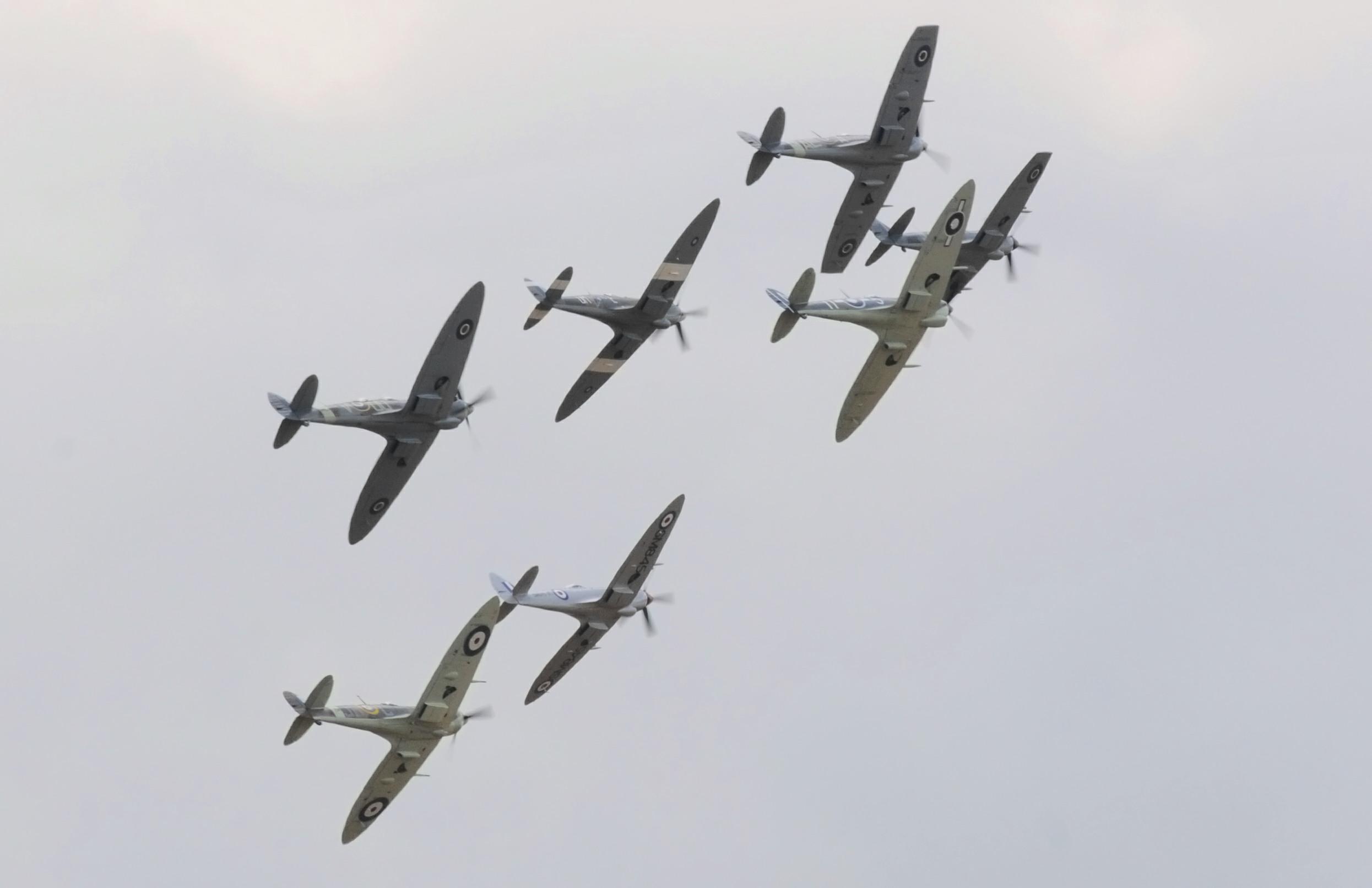 A sky full of Spitfires
