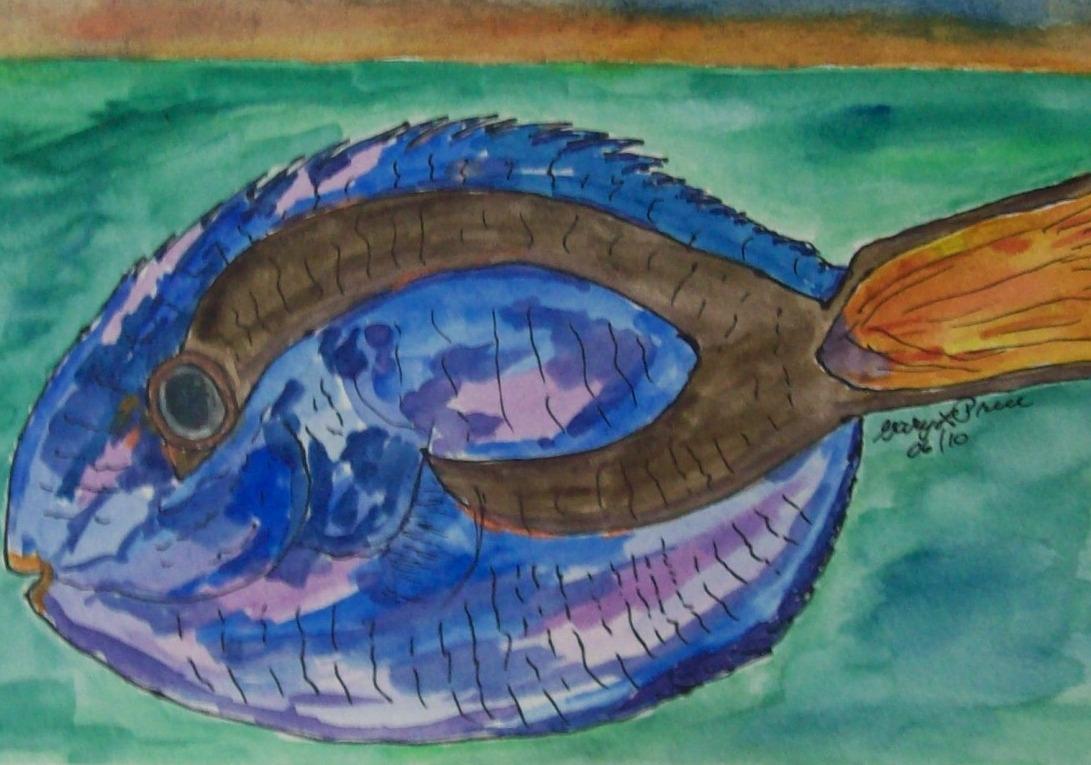 """""""Flag-tail Surgeonfish"""