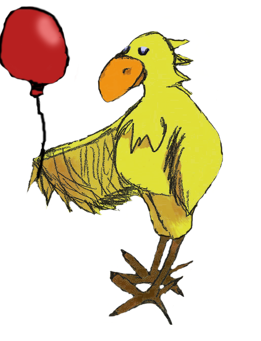 Chocobo with a red balloon