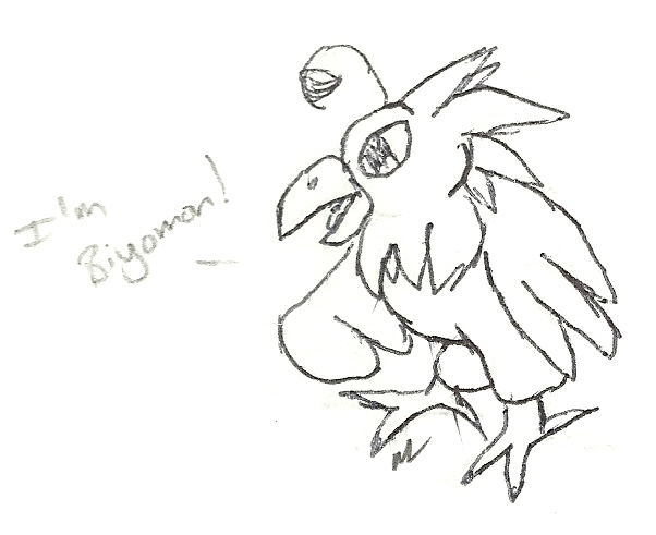 Notebook Doodles: Biyomon