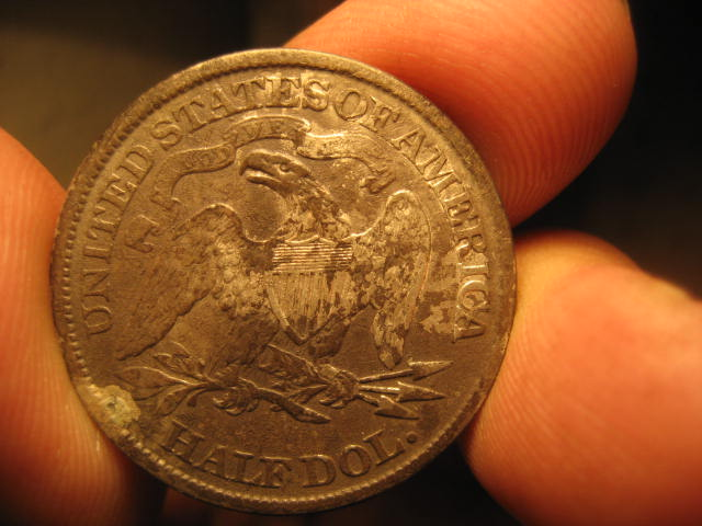 other side of 1874 seated half dollar