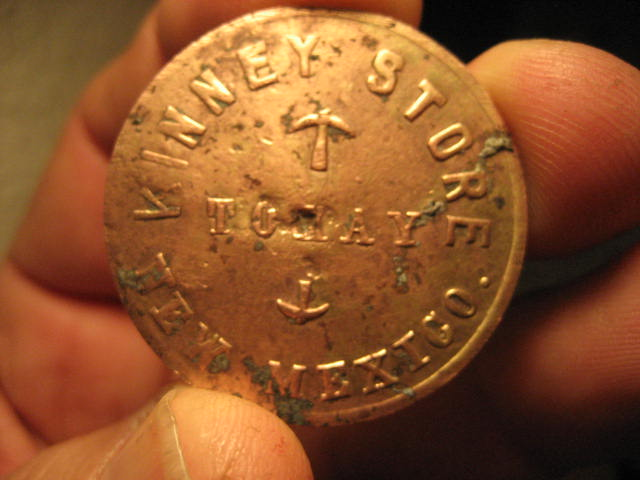 Kinney Store trade token, Tokay, NM