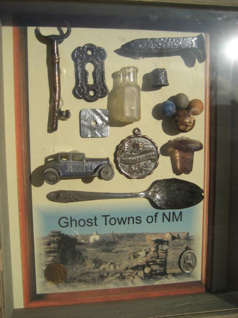Ghost town treasures display