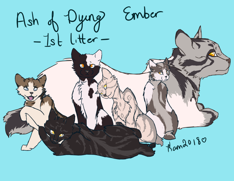 Ash of Dying Ember - First Litter