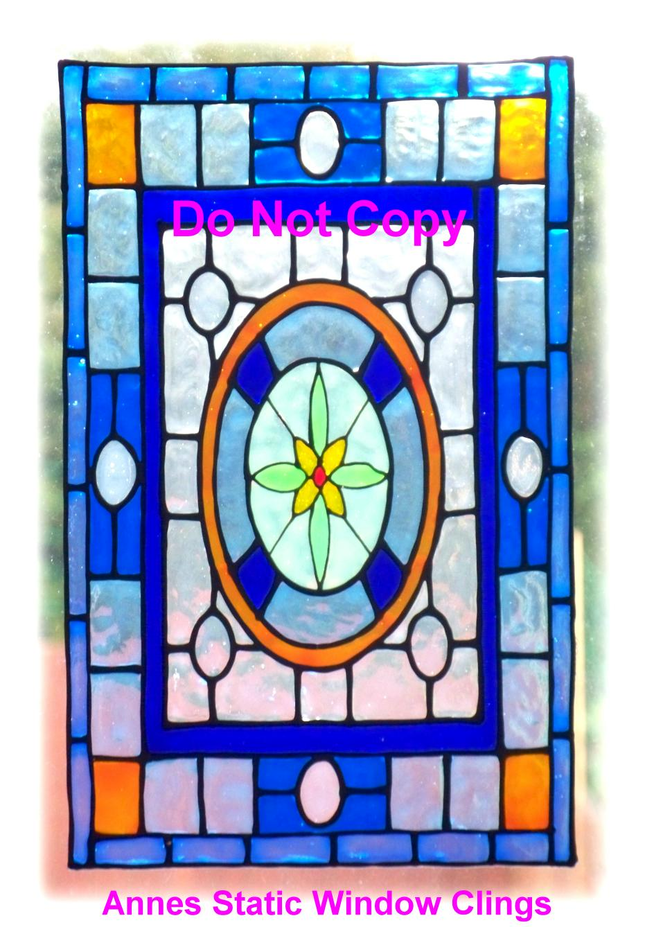 victorian window cling stained glass effect decal sun catcher motiff handmade ebay. Black Bedroom Furniture Sets. Home Design Ideas
