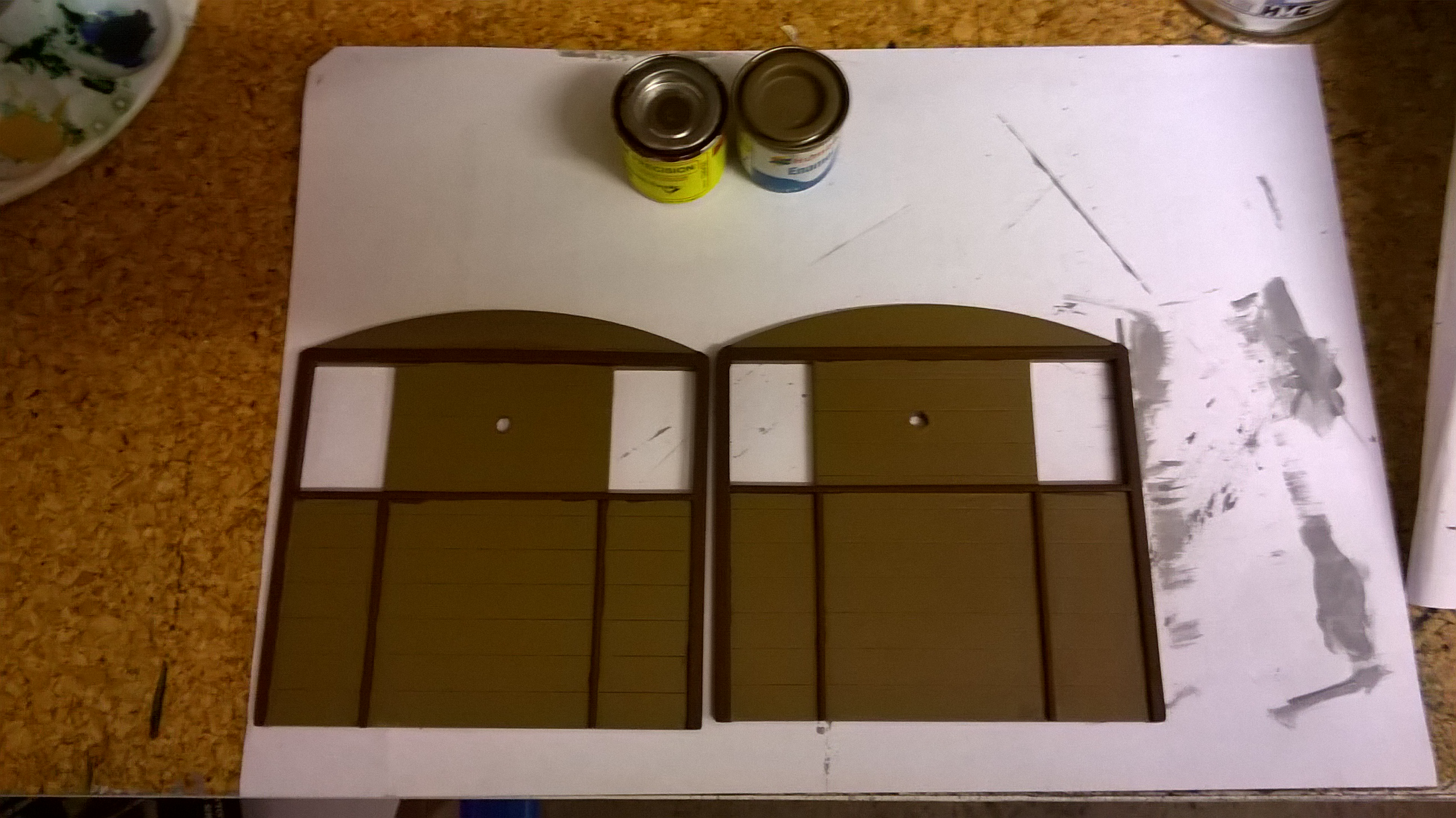 Painting of the Loco End Panels.