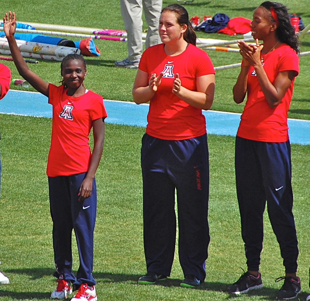 UofA Women's NCAA Indoor Champs scorers introduced