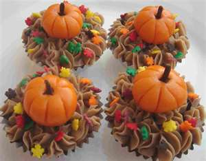 fall harvest cupcakes