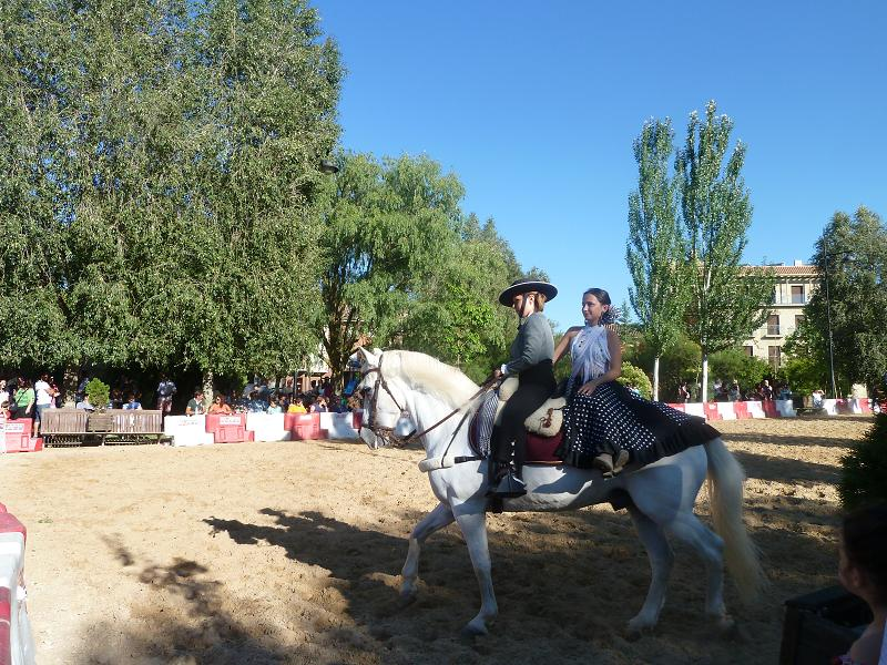 Two on a horse, Andalusian style